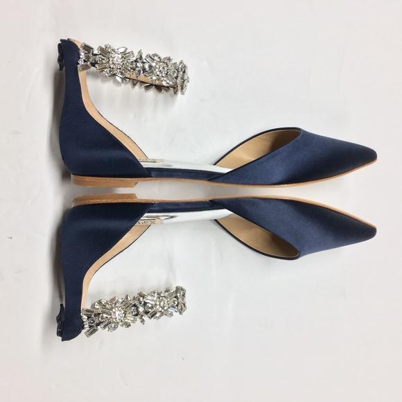 030af32a97c8 Badgley Mischka Shoes - BADGLEY MISCHKA Morgen Satin Ankle Strap Flats